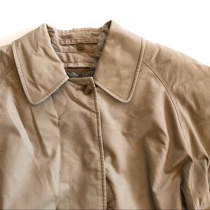 Vintage Mens Burberry Layered Tan Trench Coat